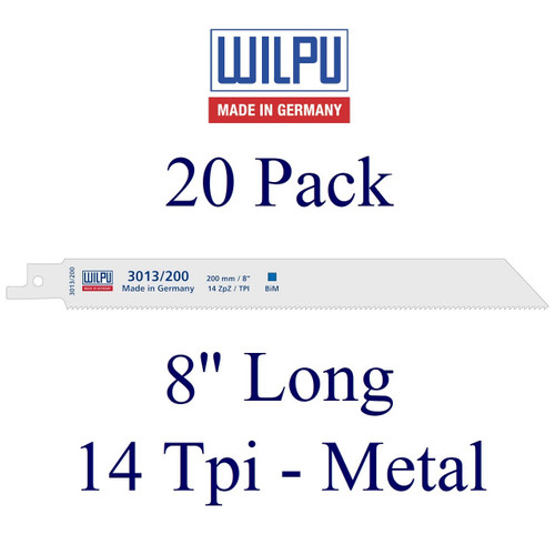 "8"" x 14 Tpi - Metal Cutting Blade - Bi-Metal with Cobalt  (20 Pack)"