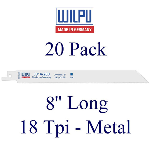 "8"" x 18 Tpi - Metal Cutting Blade - Bi-Metal with Cobalt  (20 Pack)"