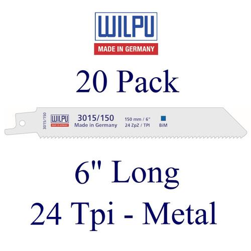 "6"" x 24 Tpi - Metal Cutting Blade - Bi-Metal with Cobalt  (20 Pack)"