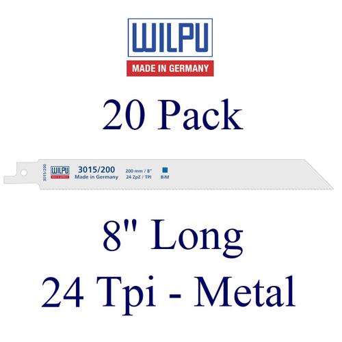 "8"" x 24 Tpi - Metal Cutting Blade - Bi-Metal with Cobalt  (20 Pack)"