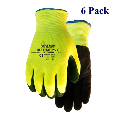 Stealth Stingray - Sandy Nitrile Palm - Hi-Vis - Insulated -  S-XXL  (12 Pack)