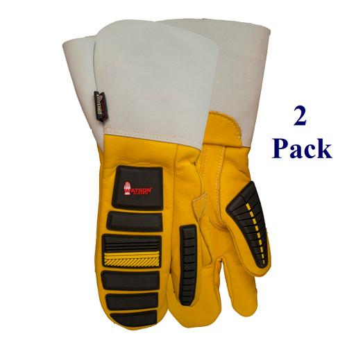 Storm Trooper - FG Cowhide - 1 Finger Mitt Gauntlet - Insulated - M-XL  (2 Pack)