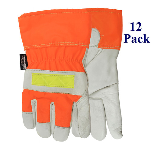 Winter Flashback - FG cowhide - Hi-Vis - Insulated - S-XXL  (12 Pack)