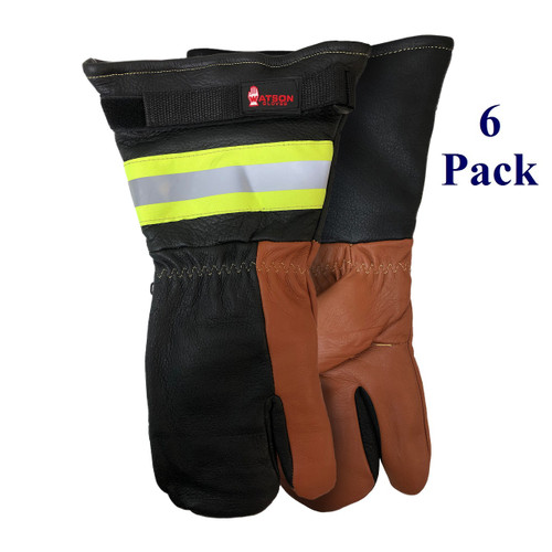 Moscow Mule AKA White Out - FG Cowhide Palm - Extended 1 Finger Gauntlet Mitt - Insulated - L-XL  (6 Pack)
