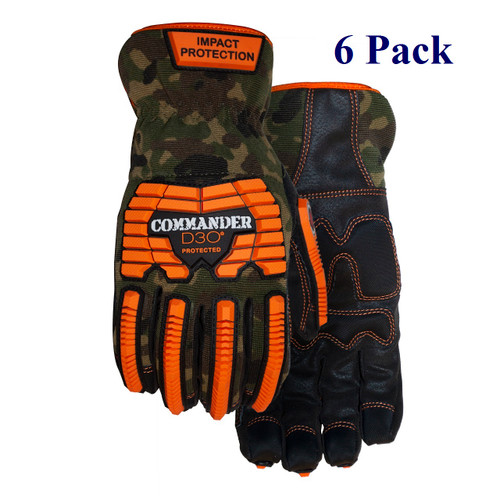 Commander - Synthetic Leather Palm - XS-3XL (6 Pack)