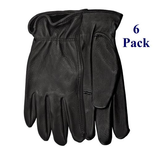 Range Rider - FG Black Deerskin - XS-XL (6 Pack)