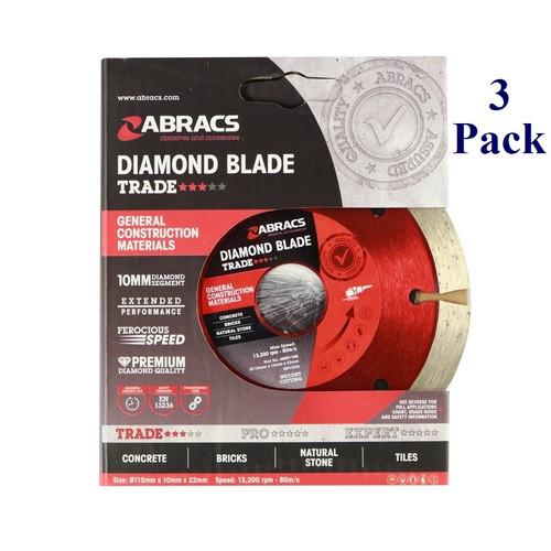 "4.5"" X 7/8"" - General Purpose Diamond Blade - Trade (3 Pack)"