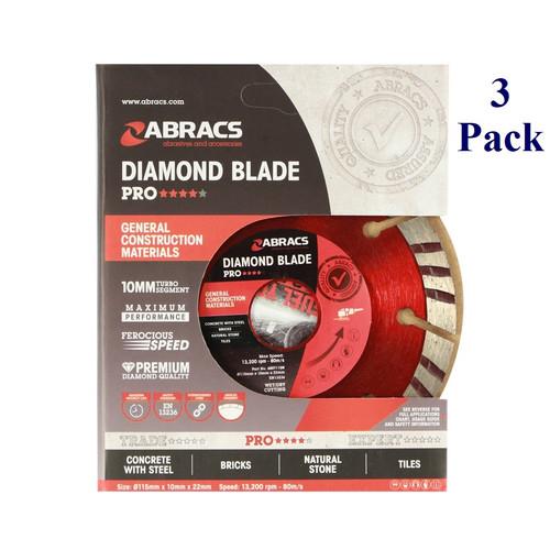 "4.5"" X 7/8"" - Professional Diamond Blade (3 Pack)"