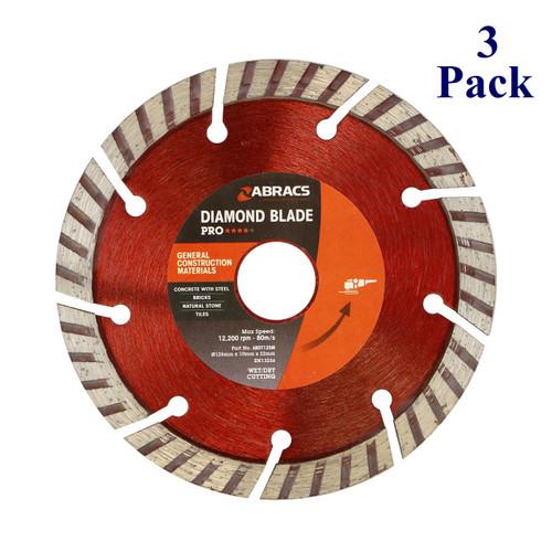 "5"" X 7/8"" - Professional Diamond Blade (3 Pack)"