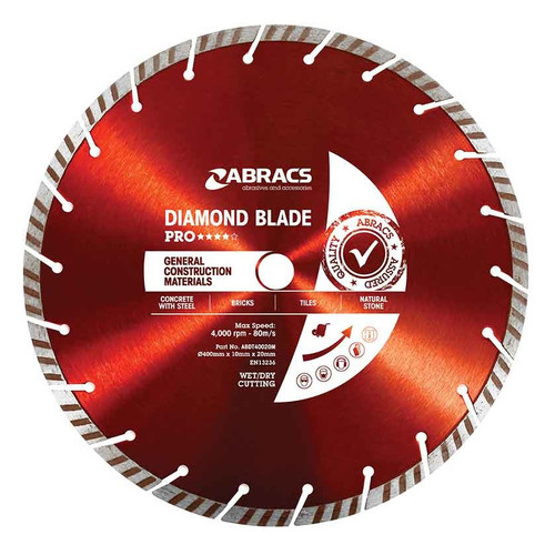 "20"" X 1"" - Professional Diamond Blade - Special Order"