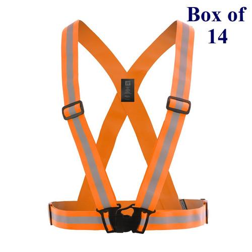 Hi Vis Traffic Safety Sash - Orange, Lime, Black - OS  (Box of 14)