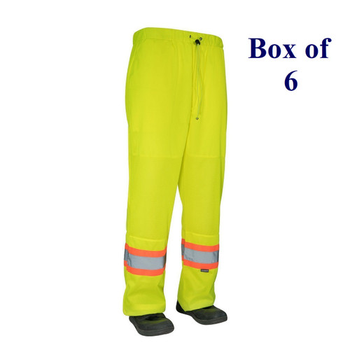 Lime, Dark Blue, Black - Hi Vis Tricot Traffic Pants with Vented Legs - S-3XL  (Box of 6)