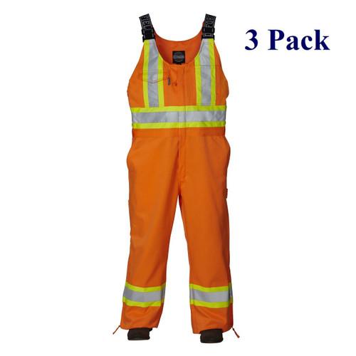 Orange - Hi Vis Overall - S-4XL  (3 Pack)