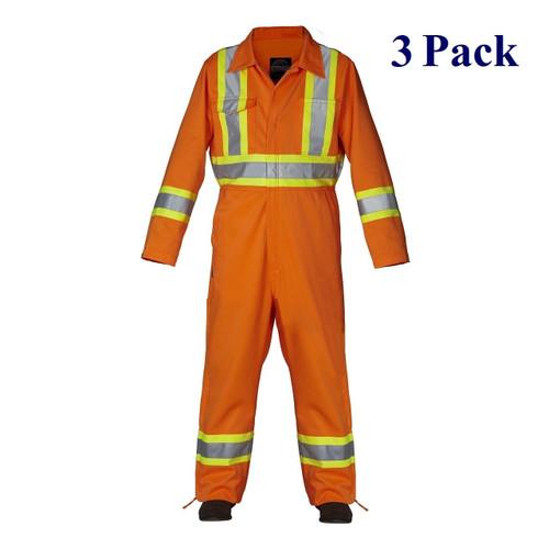 Orange - Hi Vis Coverall - S-4XL  (3 Pack)