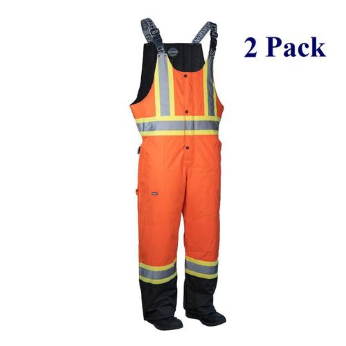 Orange, Lime, Dark Blue, Black - Hi Vis Insulated Overalls - S-5XL  (2 Pack)