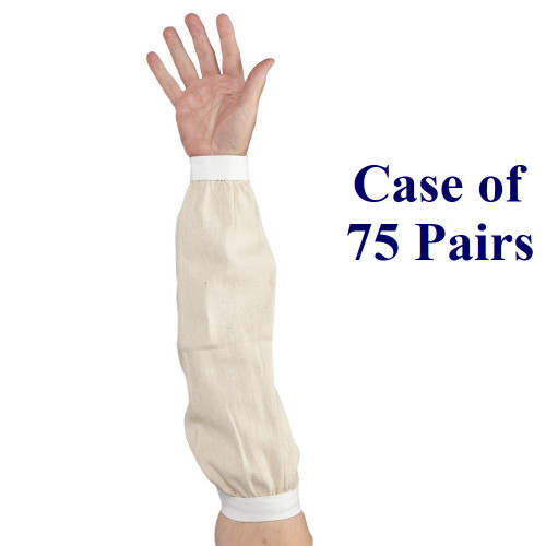 "18"" Cotton Sleeves  (Case of 75 Pairs)"