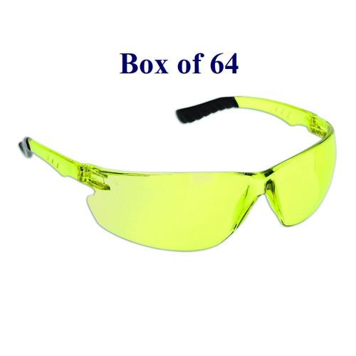 Firebird CSA Safety Glasses - Yellow  (Case of 64)