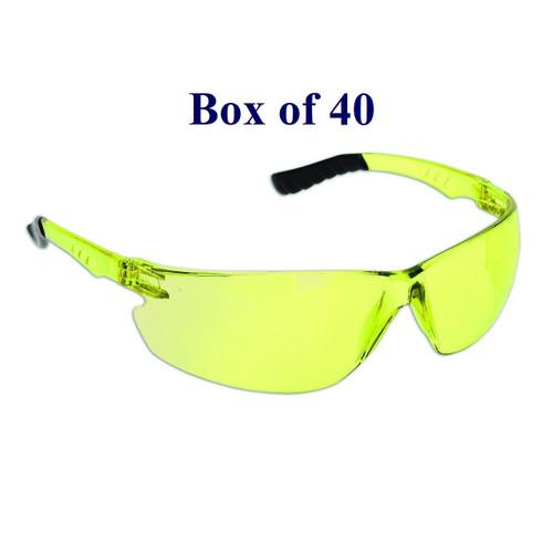 Techno Anti-Fog CSA Safety Glasses - Yellow  (Case of 40)