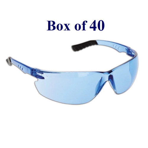 Techno Anti-Fog CSA Safety Glasses - Blue  (Case of 40)