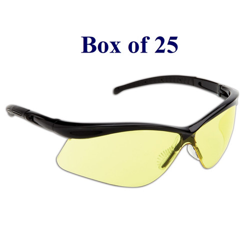 Warrior Anti-Fog CSA Safety Glasses w/ Soft Nose Piece - Yellow (Case of 25)