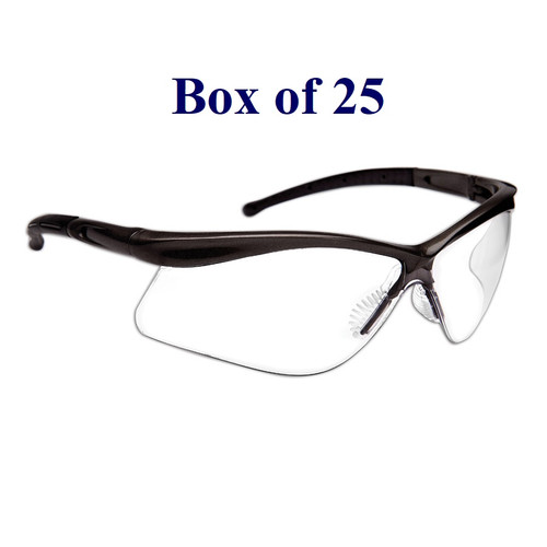Warrior Anti-Fog CSA Safety Glasses w/ Soft Nose Piece - Clear (Case of 25)