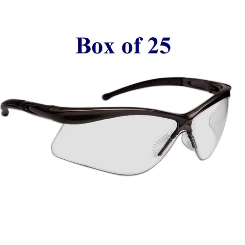 Warrior Anti-Fog CSA Safety Glasses w/ Soft Nose Piece - Indoor/Outdoor Mirror (Case of 25)