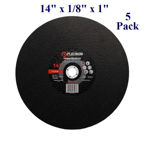 "14"" x 1/8"" x 1"" - Stationary Saw Wheel - Steel and Stainless (5 Pack)"