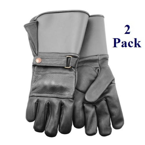 Knuckle Duster - FG Cowhide - Motorcycle Gloves - Insulated - S-XL  (2 Pack)