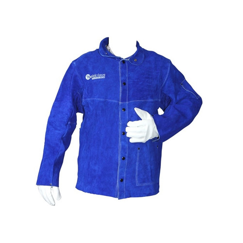 Promax Blue Leather Welding Jacket (M-3XL)