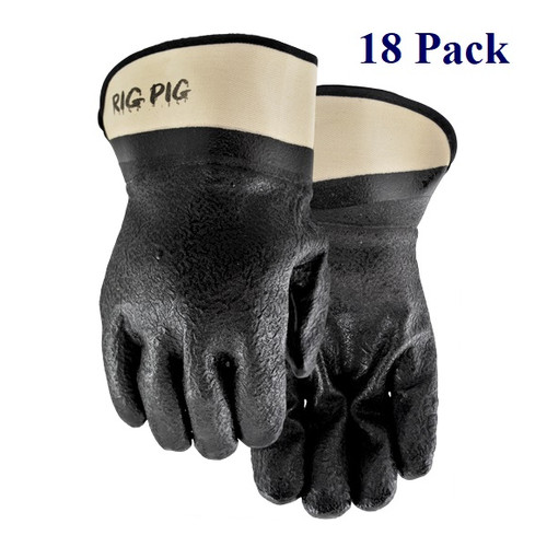 Rig Pig - Double Dipped Nitrile/PVC Blend - Lg  (18 Pack)