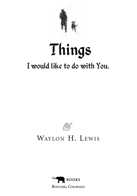 """Things I Would Like To Do With You,"" ~ by Waylon H. Lewis (Ebook)"