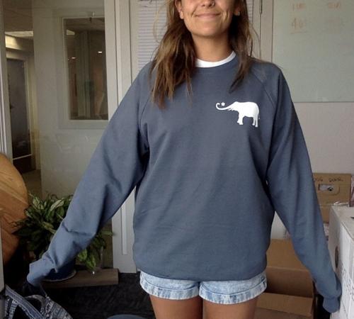 2x The Big Elephant, Little Mindful Manifesto Oversized (or not) Eco Sweatshirt.