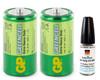 Body4Real Hi Tech Oil Pen + 2 GP Green Cell Batteries Size C