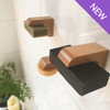 Beauty and the Bees Shampoo Bar Container - Air Dry Magnetic Soap Holder in-Shower Storage for Soaps & Solid Shampoo Bars