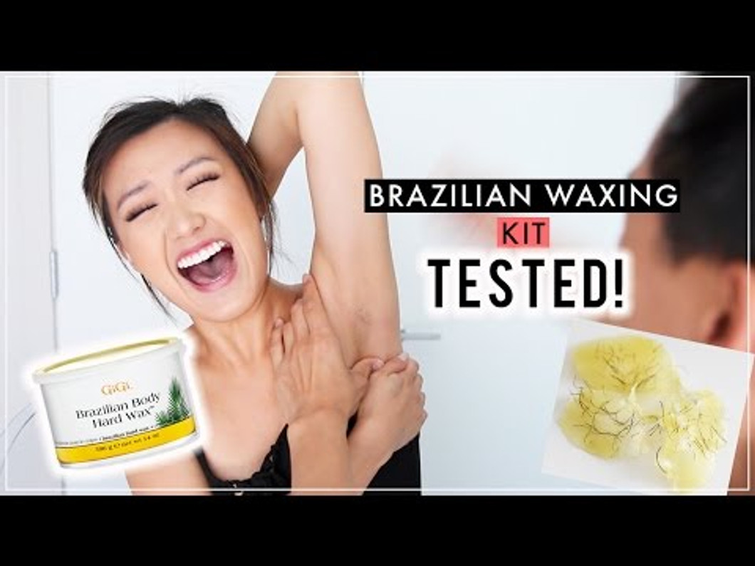 How to Brazilian Wax using Gigi Hard (Strip Free ) Wax