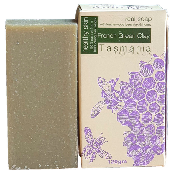 French Green Clay and Leatherwood Honey Soap