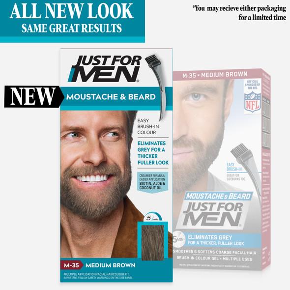 Just For Men Brush In Colour Gel for Moustache, Beard & Sideburns