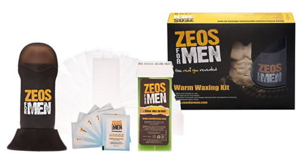Zeos for Men - Roll on Home Waxing Kit