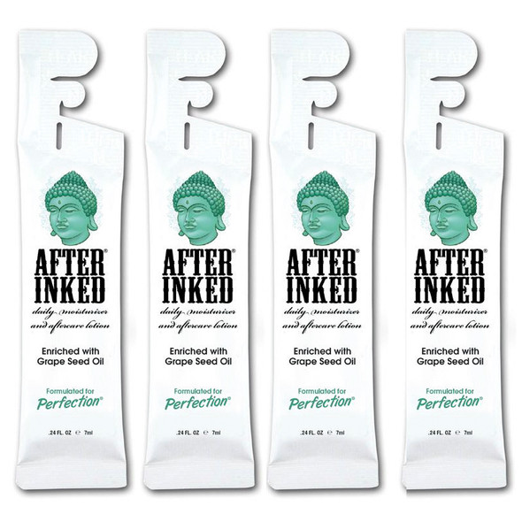 After Inked Tattoo After Care Lotion 7ml Sachets x4