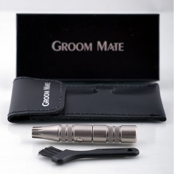 Groom Mate Platinum XL Plus - Nose Hair Trimmer - Gift Pack (Leather Case)