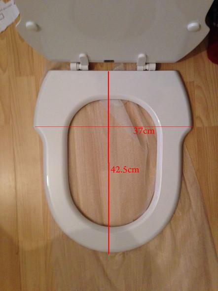 Incepa Hampton Replacement Toilet Seat White MDF