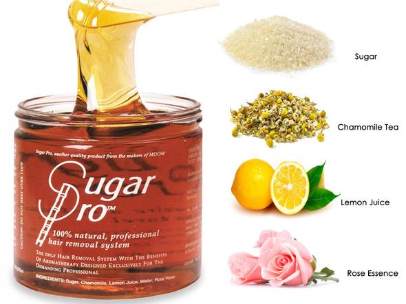 MOOM Certified Organic Sugar Pro Wax Waxing Jar 12oz