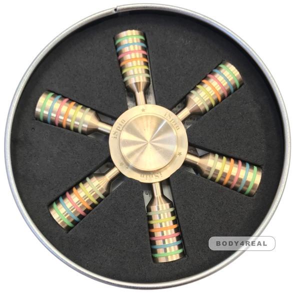 Glow in the dark 95g solid brass iSpin hand fidget spinner