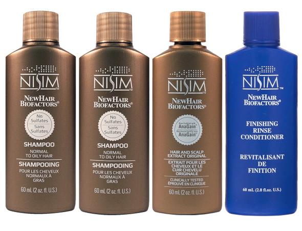 Nisim Hair Loss Starter Kit (For Men & Women) Normal to Oily Formula SLS FREE