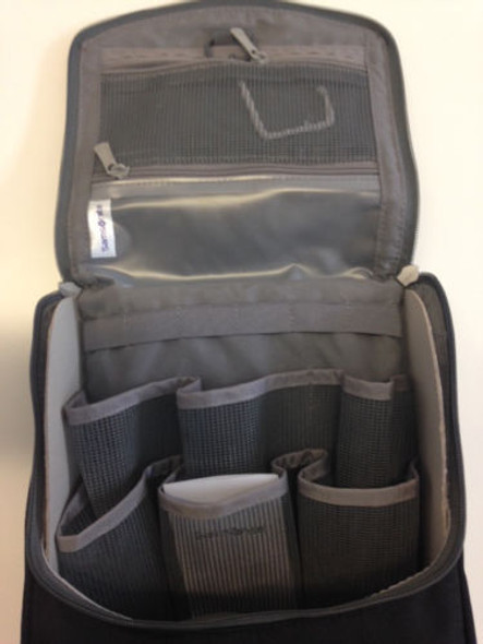 Nisim Samsonite Hanging Toiletry Kit / Travel Wash Bag Black (Mens/ Unisex)