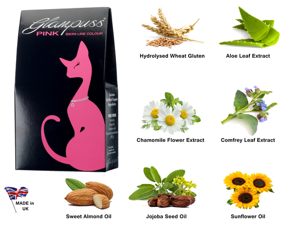 GlamPuss Pubic Hair Dye Red or Pink (with Organic Ingredients)