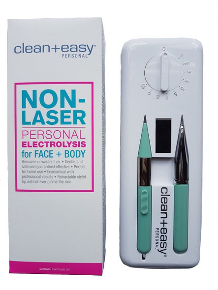 Clean & Easy Deluxe Home Electrolysis Kit + Stiles Tweezer