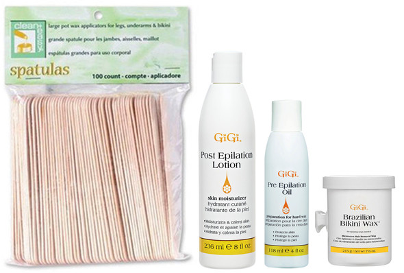 GiGi Pre and Post Epilation Wax Kit Waxing Hair Removal