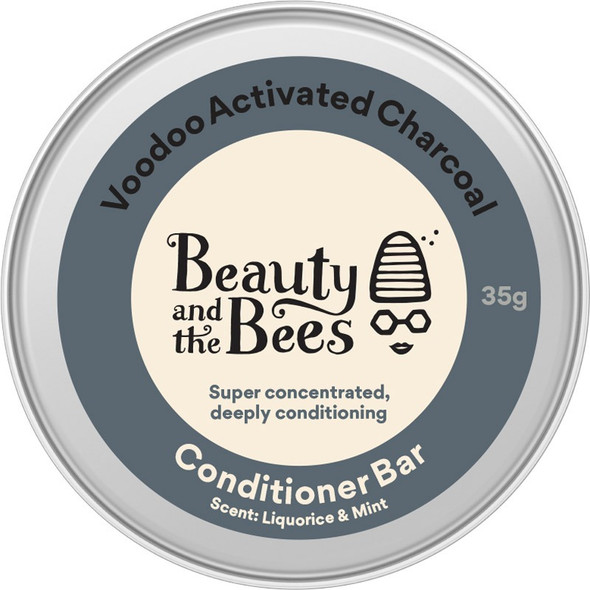 Beauty and the Bees Voodoo Bamboo Charcoal Conditioner Bar 35 grams