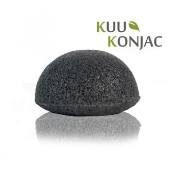 Konjac Bamboo Charcoal Exfoliating Sponge (oily/problem skin)